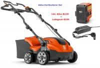 Husqvarna Akku Vertikutierer S138i mit Akku BLi20 und Ladegerät QC80