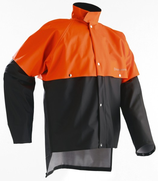 Husqvarna Regenjacke Grau/Orange