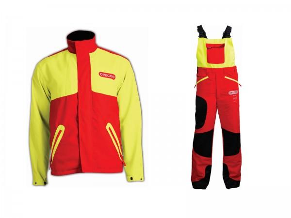 Orgeon Schnittschutz Set Waipoua - Latzhose - Jacke / gelb-rot