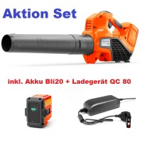 Husqvarna Akku-Blasgerät 120iB inkl. Akku BLi20 + Ladegerät QC80 Modell 2020