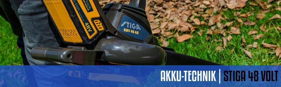 Stiga 48 Volt Akku-Technik System