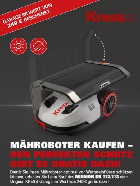 KRESS Mähroboter Mission KR112 inkl. Kress Garage kostenlos