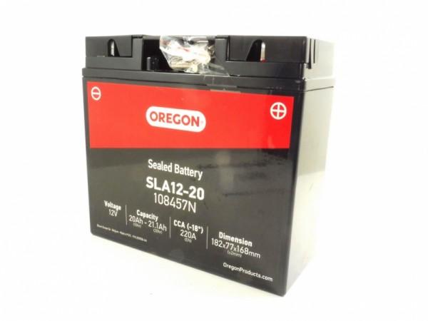 Oregon Batterie Rasentraktor 12 V 20 Ah -108457N