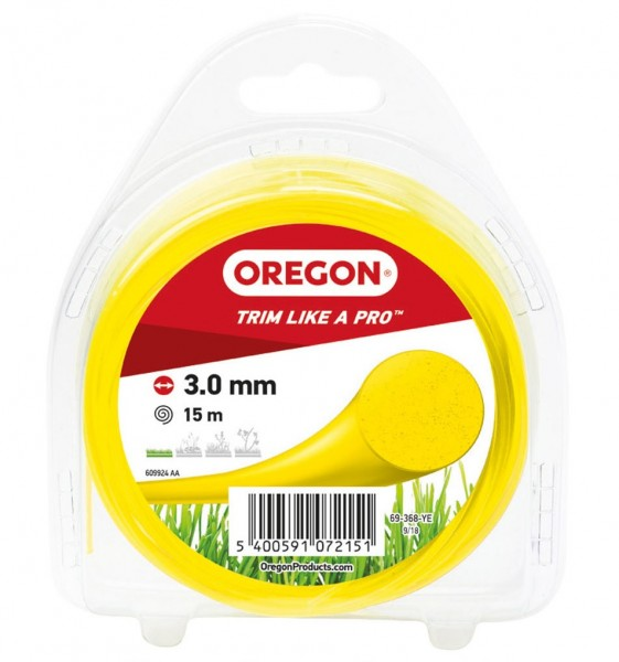 Oregon Trimmerfaden Multicolor Ø 3,0 mm Gelb