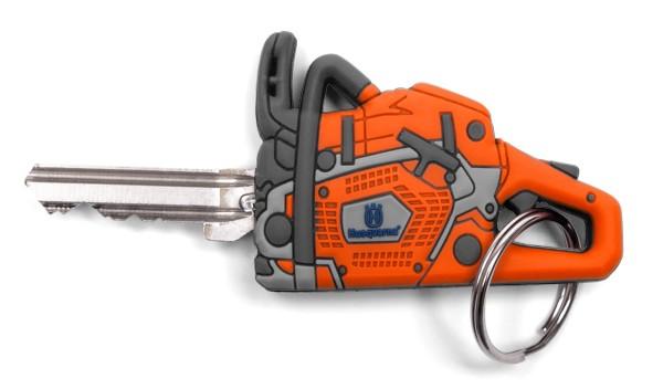 Husqvarna Motorsägen Schlüssel-Cover mit Ring und LED Licht - 5894404-01