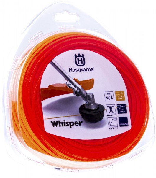 Husqvarna Trimmerfaden Whisper 2,4 mm 90 Meter Orange - 5784362-01