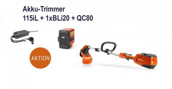 Husqvarna Akku-Trimmer 115iL Set mit Akku BLi20 + Ladegerät QC80 - Modell 2020