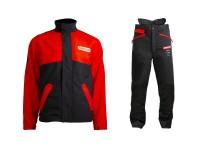 Orgeon Schnittschutz Set Waipoua - Bundhose - Jacke / schwarz-rot