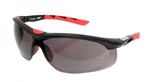 Oregon Schutzbrille Schwarz, Rahmen Schwarz/Rot - 572797