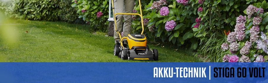 Stiga 60 Volt Akku-Technik System