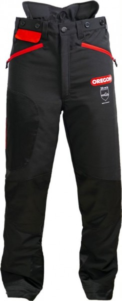 Oregon Waipoua® III Schnittschutz Bundhose Schwarz/Rot 295466