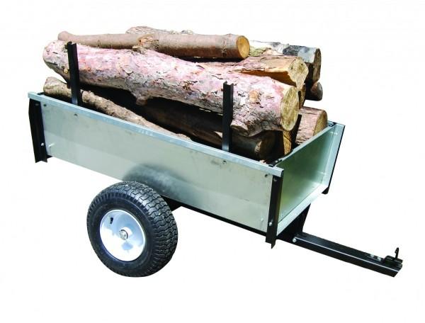 Black Edition Profi Holz-Anhänger aus galvanisiertem Stahl - 450kg