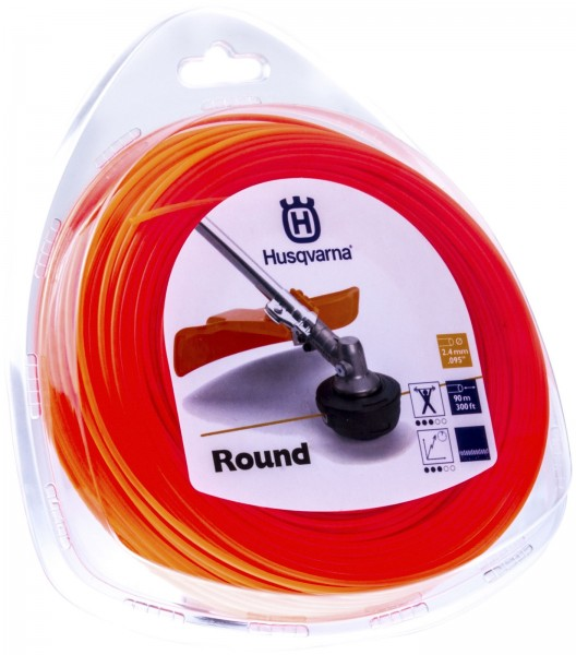 Husqvarna Trimmerfaden Standard Rund 2,4 mm 90 Meter Orange - 5784375-01