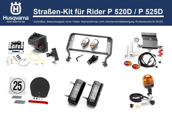 Husqvarna Straßen-Kit StVZO P 520D / P 525D