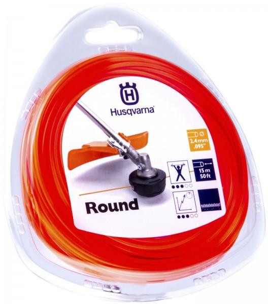 Husqvarna Trimmerfaden Standard Rund 2,4 mm 15 Meter Orange - 5784374-01