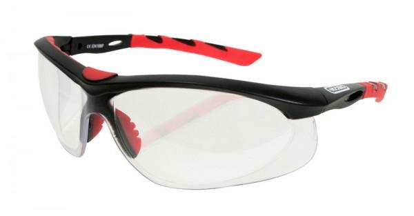Oregon Schutzbrille Klar, Rahmen Schwarz/Rot - 572796