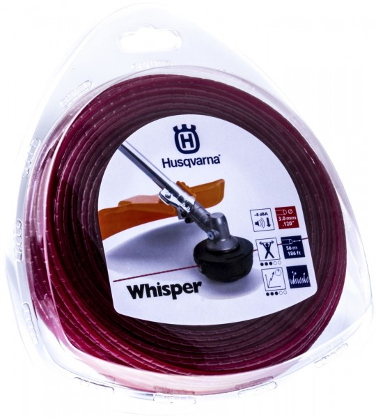Husqvarna Trimmerfaden Whisper 3,0 mm 56 Meter Rot - 5784368-01