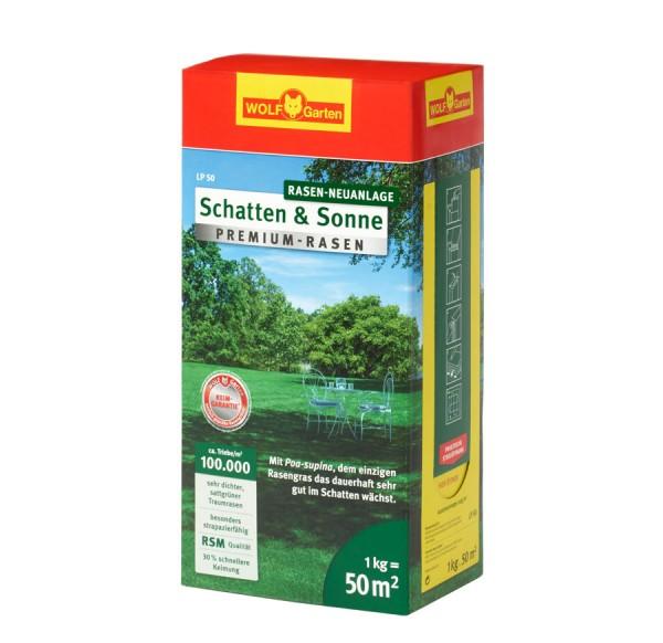 """Wolf Garten Premium-Rasen """"Schatten und Sonne"""" LP 50"""