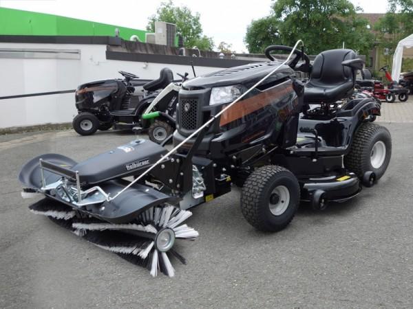 BLACK EDITION Rasentraktor 285/117 Twin HK mit TK 50 Tielbürger Kehrmaschine