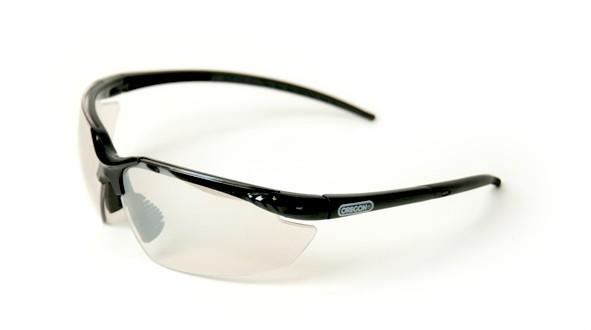 Oregon Schutzbrille Klar Silber verspiegelt, Rahmen Schwarz - Q545831