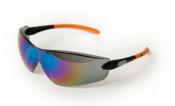 Oregon Schutzbrille Schwarz verspiegelt, Rahmen Schwarz/Orange - Q525252