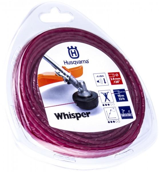 Husqvarna Trimmerfaden Whisper 3,0 mm 10 Meter Rot - 5784367-01