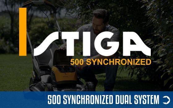 500 Synchronized Akku System Stiga