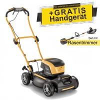 Stiga Akku-Rasenmäher Multiclip 47 S DAE + Rasentrimmer SGT 500 AE