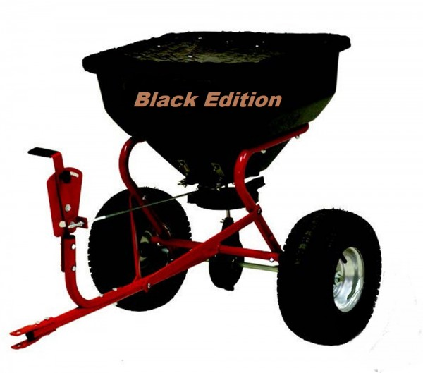 Black Edition Profi Streuwagen Zentrifugalstreuanhänger - 65 kg