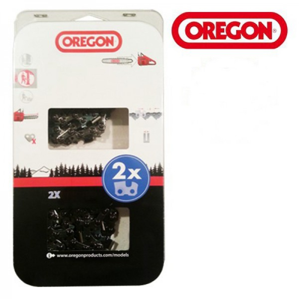 "Oregon Sägekette 91VXL 3/8 "" 1,3 mm 55TG HM VersaCut™ 40cm 2 Stück - 91VXL055E"