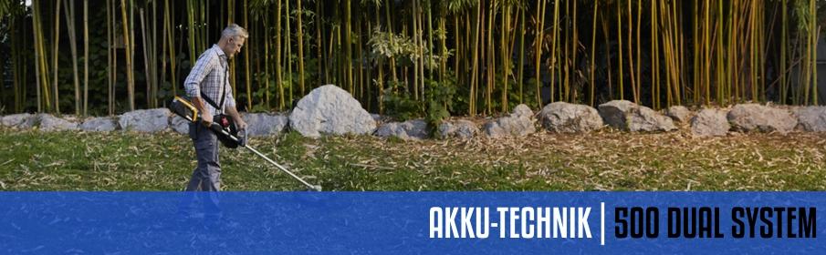 Stiga 500 Akku-Systeme
