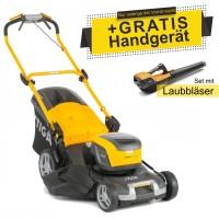 Stiga Akku-Rasenmäher Combi 50 SQ DAE + Laubbläser SAB 500 AE