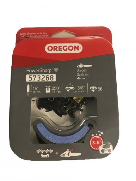 """Oregon Sägekette 3/8"""" 1,3 mm 56TG HM PowerSharp® inkl. Schleifstein"""