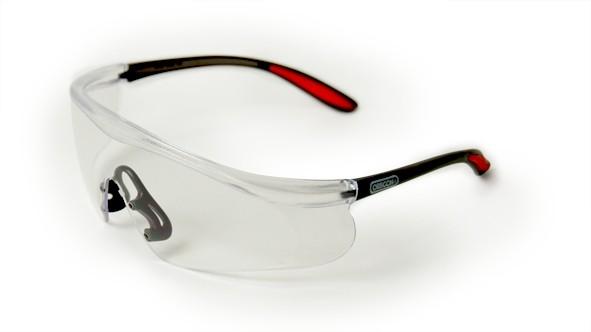 Oregon Schutzbrille Klar, Rahmen Schwarz/Rot - Q525249