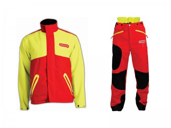 Oregon Schnittschutz Set Waipoua - Bundhose - Jacke / gelb-rot