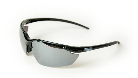 Oregon Schutzbrille Schwarz Silber verspiegelt, Rahmen Schwarz - Q545833