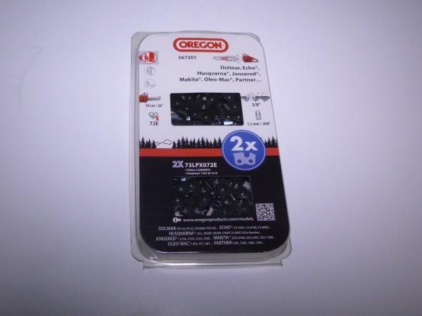 "Oregon Sägekette 73LPX 3/8"" 1,5 mm 72TG VM PowerCut™ 2 Stück - 73LPX072E"
